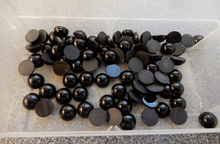 KT49 Musta Onyx hiottu 10 mm